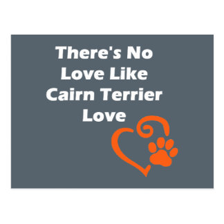 There's No Love Like Cairn Terrier Love Postcard