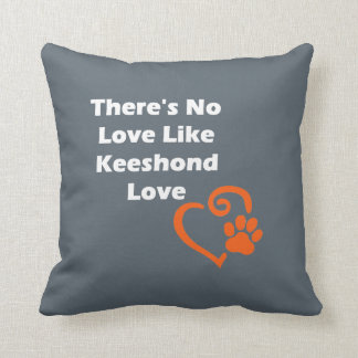There's No Love Like Keeshond Love Throw Pillow