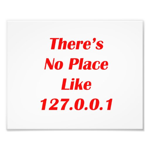 Theres No Place like 127001 red Photo Art