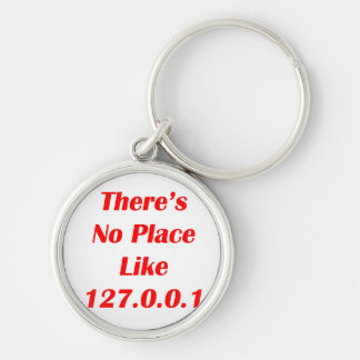Theres No Place like 127001 red Silver-Colored Round Key Ring