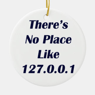 Theres No Place like 127001 Round Ceramic Decoration