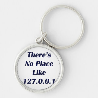 Theres No Place like 127001 Silver-Colored Round Key Ring