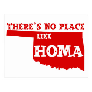 There's No Place Like Homa Oklahoma Postcard