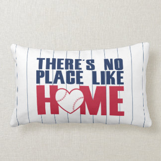 There's No Place Like HOME Baseball Heart Pillow Cushions
