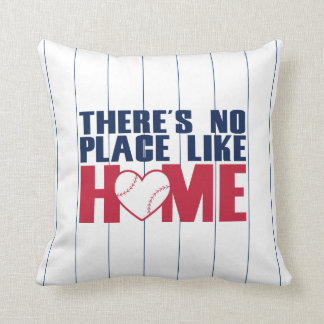 There's No Place Like HOME Baseball Heart Pillow Throw Cushions