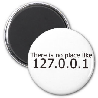 Theres no place like home ip address 6 cm round magnet