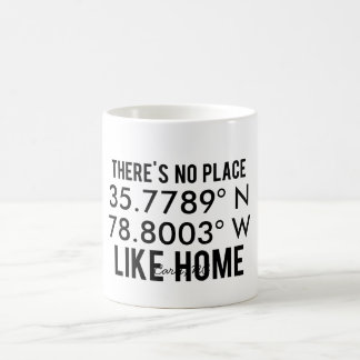 There's No Place Like Home - Latitude and Longitud Basic White Mug
