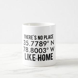 There's No Place Like Home - Latitude and Longitud Basic White Mug