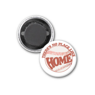 There's no place like home 3 cm round magnet