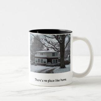 There's no place like home. Two-Tone coffee mug