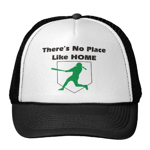 There's No Place Like Home Softball Shirt Trucker Hat