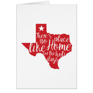There's No Place Like Home Texas Christmas Card