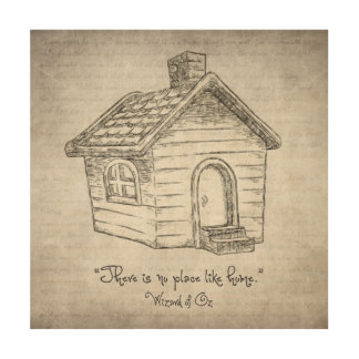 There's no place like home wood wall art