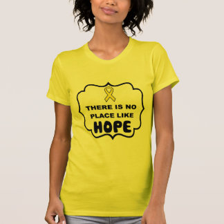 There's no place like HOPE bladder cancer t-shirt