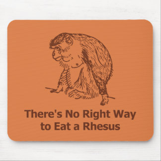 There's No Right Way to Eat a Rhesus Mouse Pad