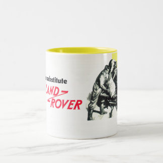 There's no substitute for a Land Rover Two-Tone Coffee Mug