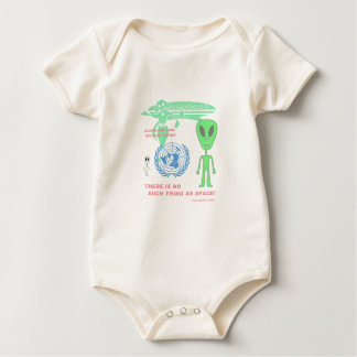 There's No Such Thing As Space! (Flat Earth) Baby Bodysuit