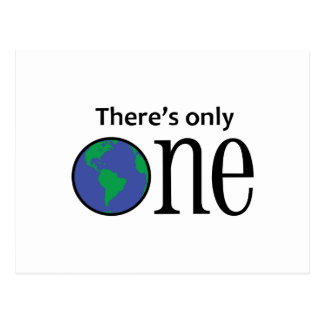 THERES ONLY ONE EARTH POST CARD