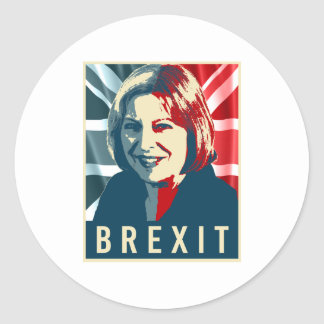 Theresa May Brexit - -  Round Sticker