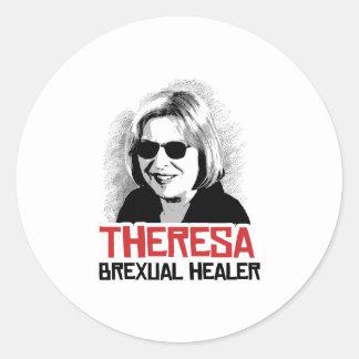 Theresa May - Brexual Healer - -  Round Sticker