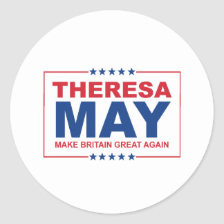 Theresa May - Make Britain Great Again - -  Round Sticker