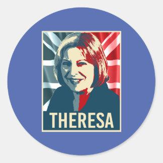 Theresa May Poster - -  Round Sticker