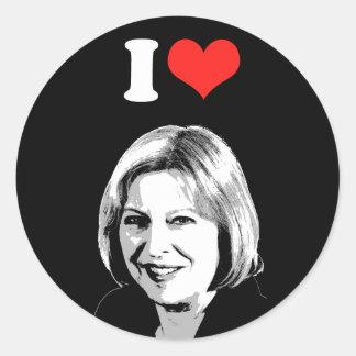 Theresa May Round Sticker