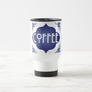 Thermal coffee cup M. art nouveau signature