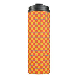 Thermal cup Karo in orange and gold-yellow