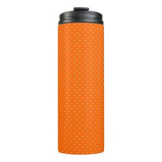 Thermal Tumbler Orange with White Dots