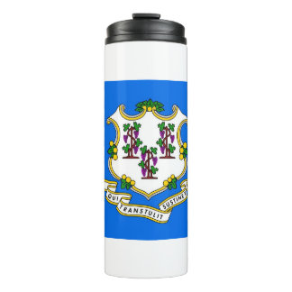 Thermal Tumbler with flag of Connecticut, USA
