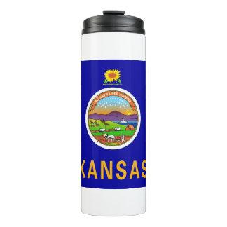 Thermal Tumbler with flag of Kansas, USA