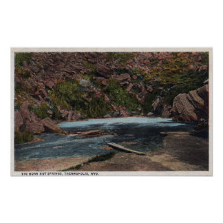 Thermopolis WY - Big Horn Hot Springs View Print