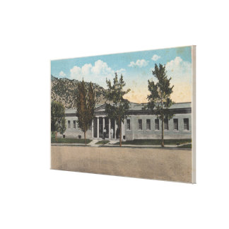 Thermopolis, WY - View of Big Horn Bath House Gallery Wrap Canvas