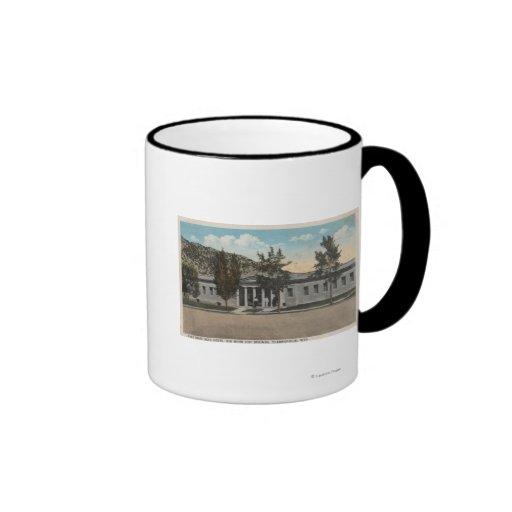 Thermopolis, WY - View of Big Horn Bath House Coffee Mugs