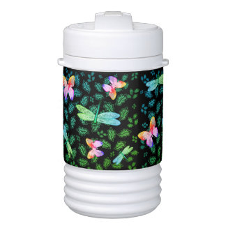 Thermos Water Bottle Botannical Dragonflies Drinks Cooler