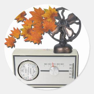 ThermostatHeaterFanLeaves052215 Classic Round Sticker
