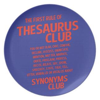 Thesaurus Club Plate
