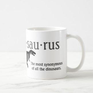 Thesaurus dinosaur funny coffee mug