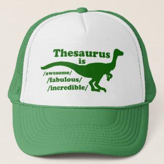Thesaurus Dinosaur trucker Trucker Hat