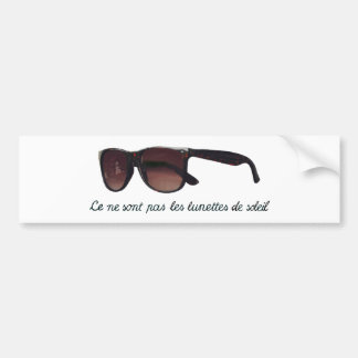These are note sunglasses bumper sticker