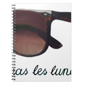 These are note sunglasses notebooks