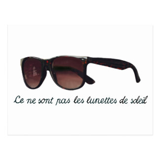 These are note sunglasses postcard