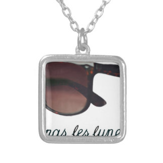 These are note sunglasses silver plated necklace