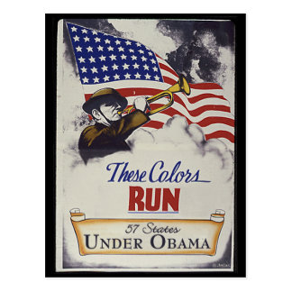 These Colors Run (Obama) Postcard