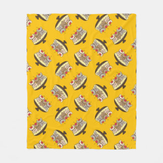 These Frenchies want to be your sweet banana split Fleece Blanket
