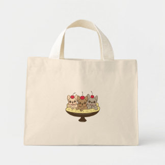 These Frenchies want to be your sweet banana split Mini Tote Bag