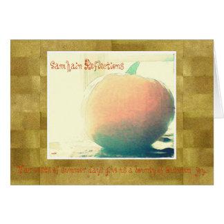 These Quiet Seasons Samhain Pumpkin Card