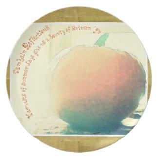 These Quiet Seasons Samhain Pumpkin Plate