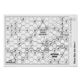 THESE STARS ARE OURS! A3 Poster Map